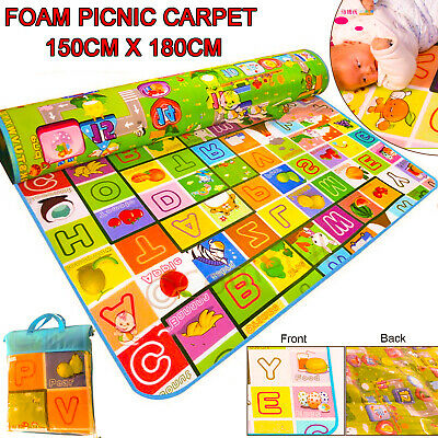 180 X 150CM 2 SIDE KIDS CRAWLING EDUCATIONAL GAME BABY PLAY