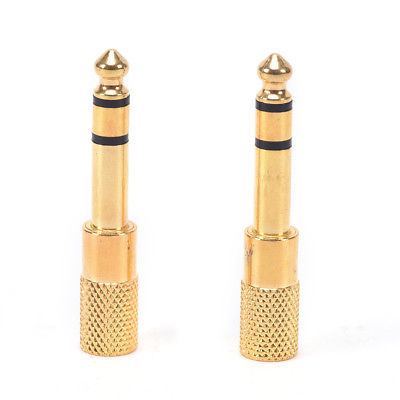 2Pcs 6.5mm To 3.5mm Female to Male Headphone Stereo Audio