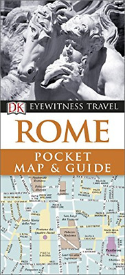 DK Eyewitness Pocket Map and Guide: Rome, DK, Good Condition