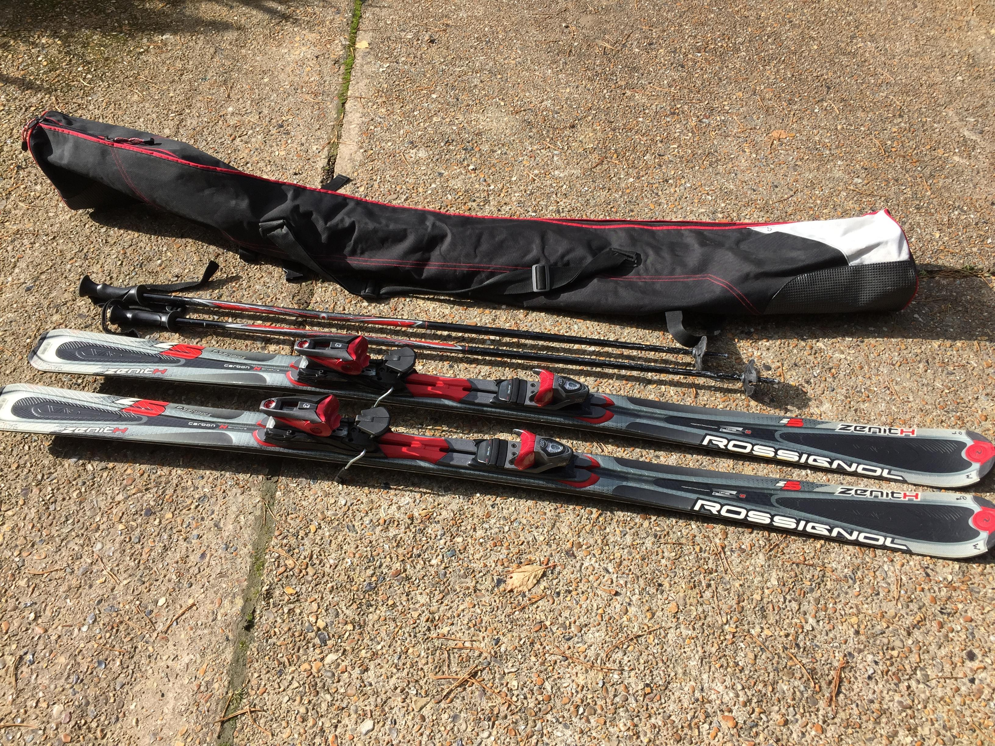 Rossignol Zenith Skis, 176cm Carbon H structure. With ski