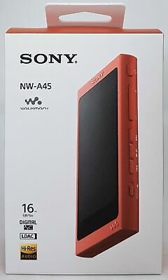 Sony NW-A45 High Resolution Walkman MP3 Player, 16 GB, Red -