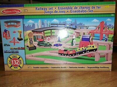 Melissa & Doug Children Wooden Toy Deluxe Railway Train