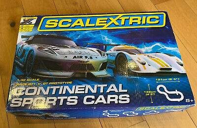 C Scalextric CONTINENTAL Sports Race Car Set + monster
