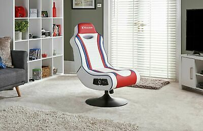 New X-Rocker Esports Pro Gaming Chair - Red/White-See My Buy