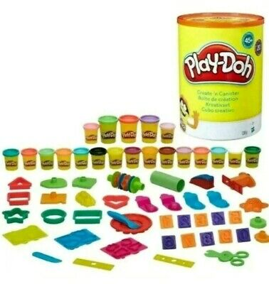 28cm Large Play-Doh Create n Canister kit set 20 TUBS 45