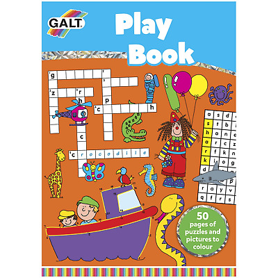 Galt Play Book Puzzles & Pictures Colouring Book. New