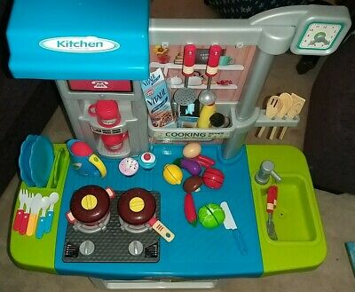 deAO My Little Chef Kitchen Play Set with Panel Features &