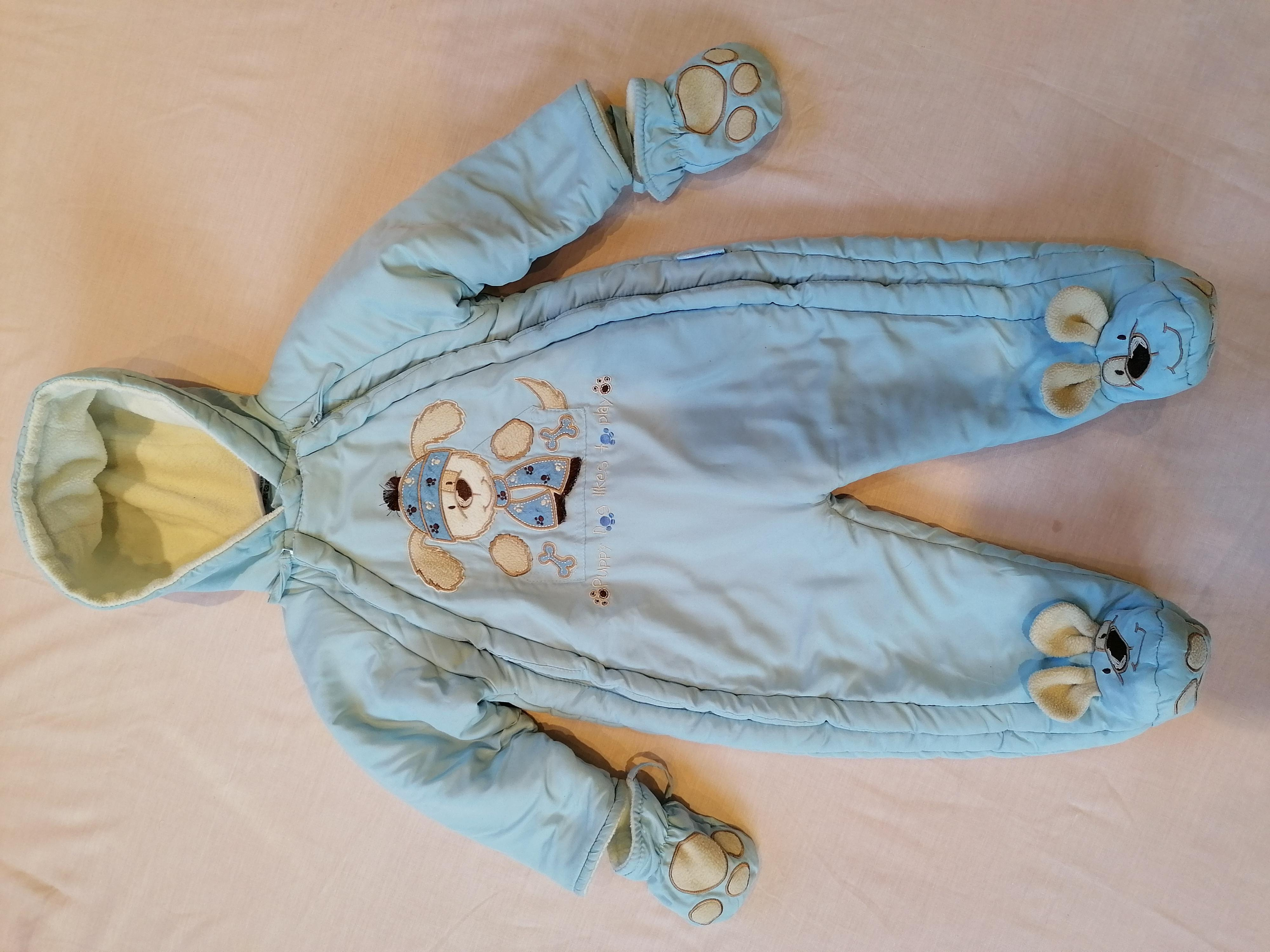 Blue Snuggler/Sleepsuit/Pramsuit