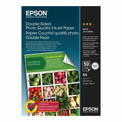 NEW! Epson Double-sided Photo Quality Inkjet Paper A4 50