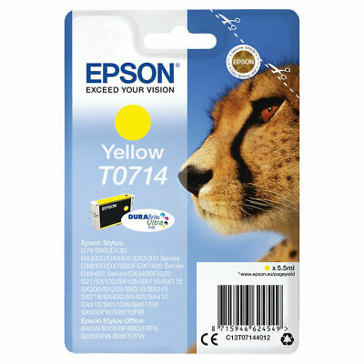 NEW! Epson T Yellow Inkjet Cartridge Capacity: 475 pages