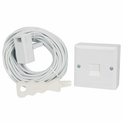 BT Telephone Line Extension Kit 15m Cable Master Socket Wire