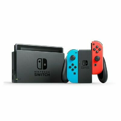 Nintendo Switch Neon Blue and Neon Red Console Joy‑Con