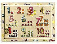 Number Puzzle Educational Toy by Tidlo