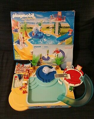 PLAYMOBIL  Summer Fun Childrens Pool With Whale Fountain