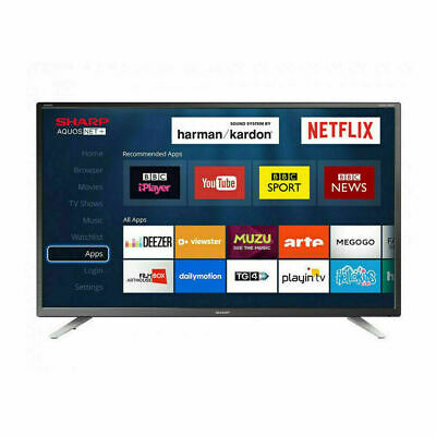 """SHARP 32"""" Inch Smart LED TV HD Ready with Freeview HD and"""