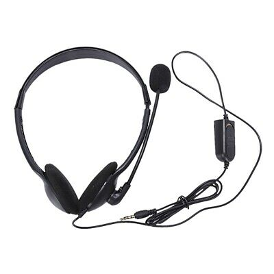 1X(3.5Mm Wired Gaming Headset Game Headphone Microphone