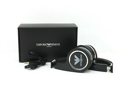 EMPORIO ARMANI BLACK HEADPHONE / EARPHONE * NEW WITH BOX