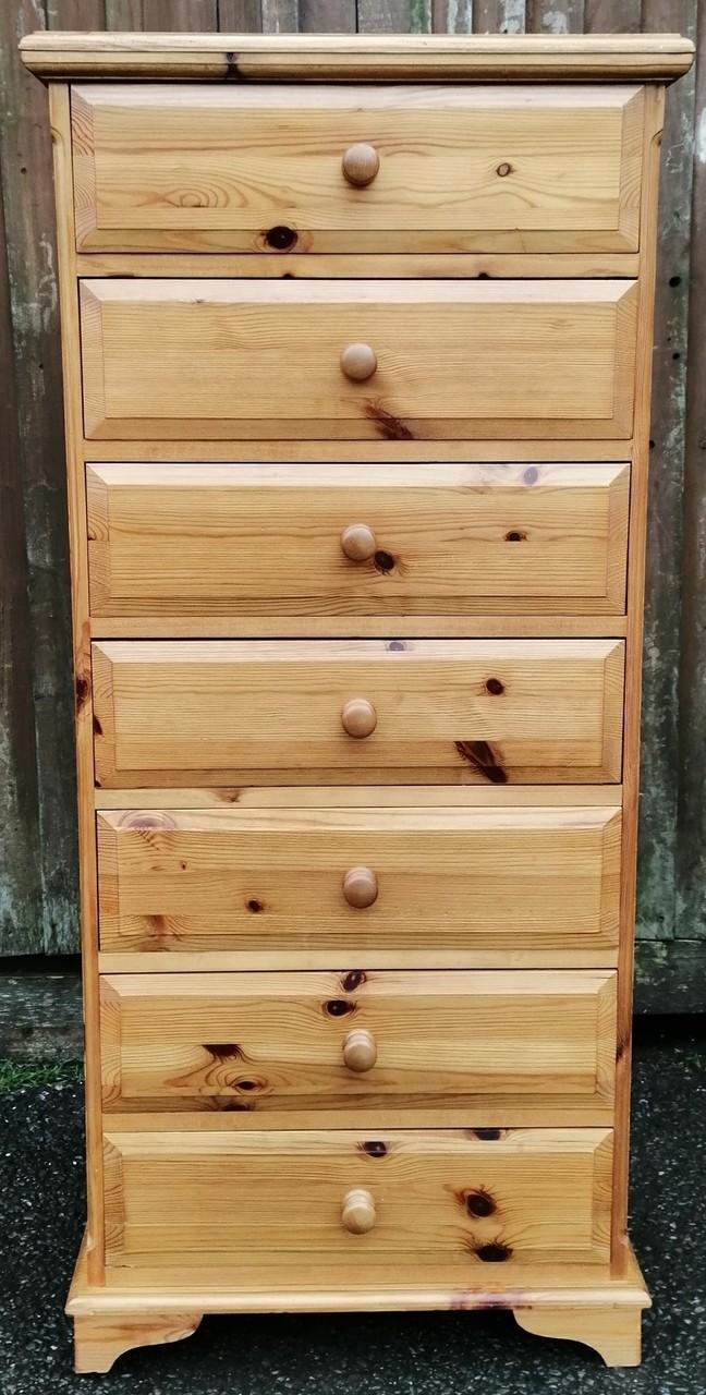 Solid Pine Seven Drawer Wellington Chest