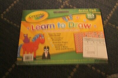 CRAYOLA LEARN TO DRAW ARTIST PAD Activity Book Stickers