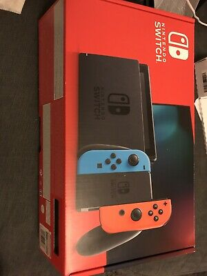Nintendo Switch 32GB Home Console - Neon Red/Blue, Used With