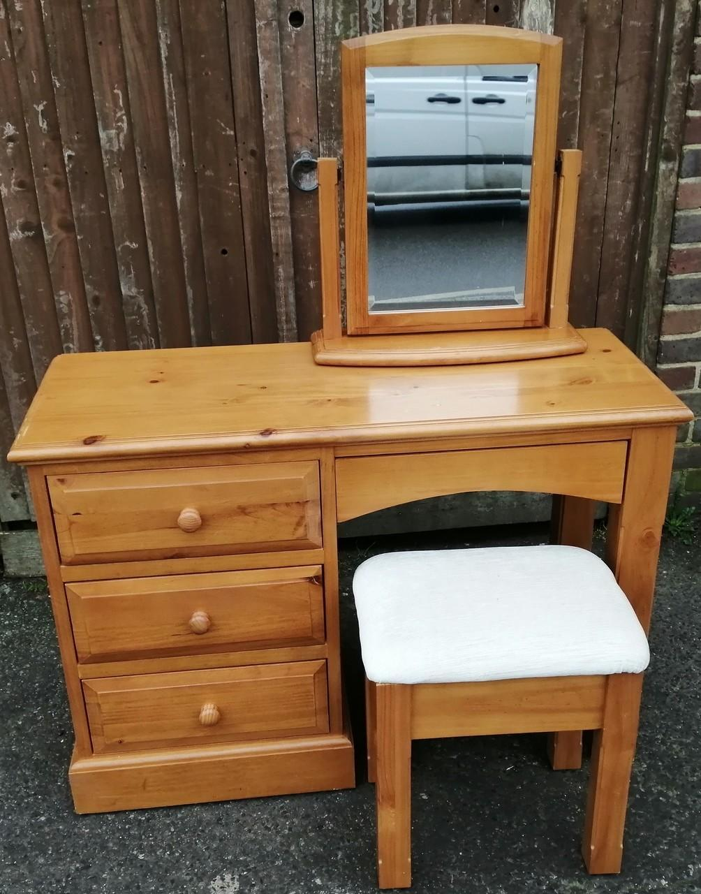 Solid Pine Dressing Table Set