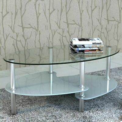 vidaXL Coffee Table Exclusive 3-Layer Design White Living