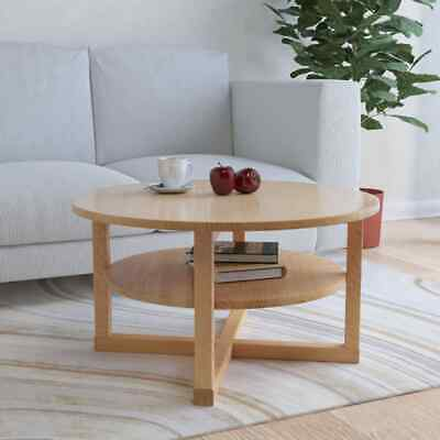 vidaXL Solid Oak Wood Coffee Table 75x40cm Couch Tables