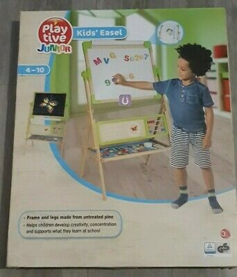 Playtive Double Sided Children's Easel, Magnetic Whiteboard