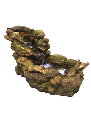 Woodland River Water Feature with LED Lights by Aqua