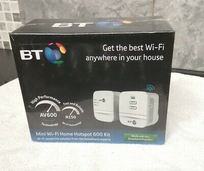 BNIB BT MINI WI FI HOME HOTSPOT 600 KIT WI FI POWERLINE