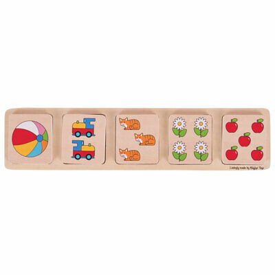 Bigjigs Toys Chunky Wooden Lift and Match Jigsaw Puzzle
