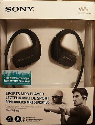 Sony NW-WS413 Waterproof Mp3 Player 4GB Black Faulty