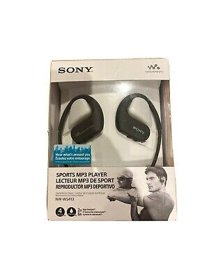 Sony NW Ws413 Waterproof Mp3 Player 4 GB Black - Brand New