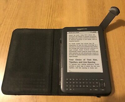 Amazon Kindle Keyboard & Brown Lighted Leather Case  - 3rd