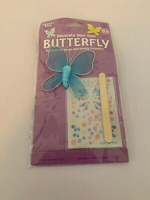 CRAFTY KITS DECORATE YOUR OWN BUTTERFLY - YELLOW BUTTERFLY