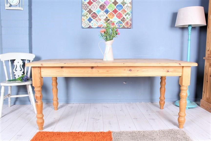 DELIVERY OPTIONS - WAXED SOLID PINE FARMHOUSE KITCHEN TABLE