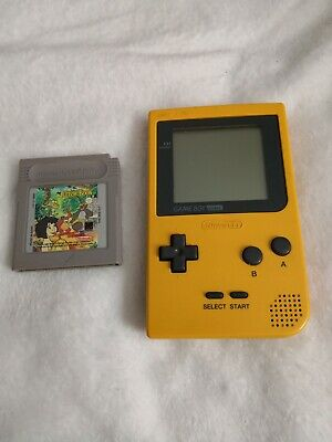 Nintendo Game Boy Pocket Console - Yellow with Jungle book