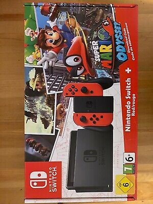 Nintendo Switch Console Bundle With Extra Controllers, Mario