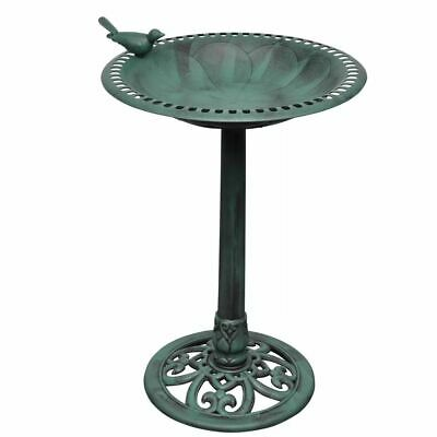 BIRD BATH PEDESTAL GARDEN OUTDOOR WILD BIRD WATER BATH