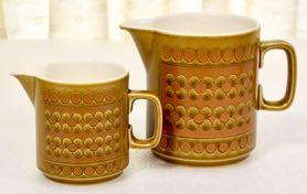 Vintage 's Hornsea Saffron set of two Jugs in perfect