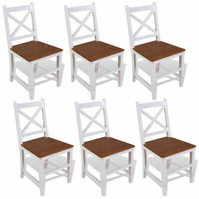vidaXL 6x Solid Teak Mahogany Dining Chairs Kitchen