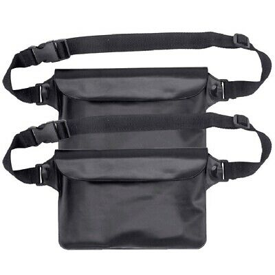 3X(Waterproof Pouch Bag Case With Adjustable Waist Strap For