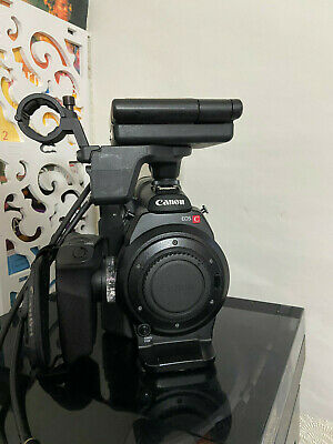 CANON EOS C300 EF MOUNT CAMCORDER with LCD MONITOR & XLR