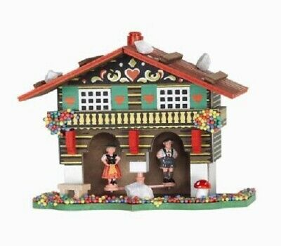 German Weather House with Bavarian Couple Made in Germany