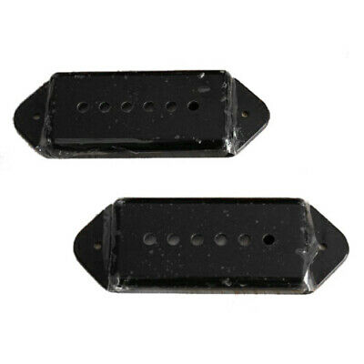 1X(A Pair of P-90 p90 Dog-ear Guitar Pickup Covers BLACK