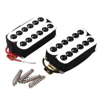 2 White Double Coil Metal Electric Guitar Pickups Humbucker