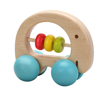 Classic World - Wooden Elephant Rattle Clutch Toy and Push