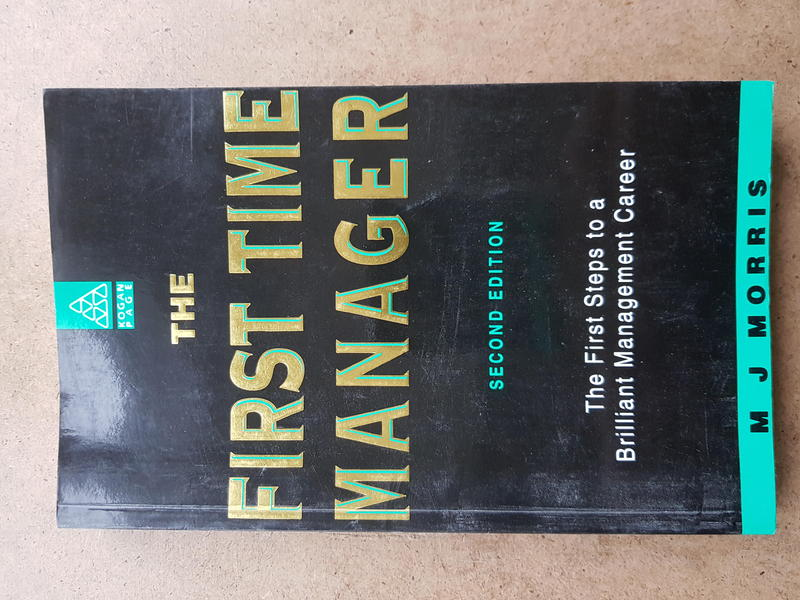 First time manager paperback book.