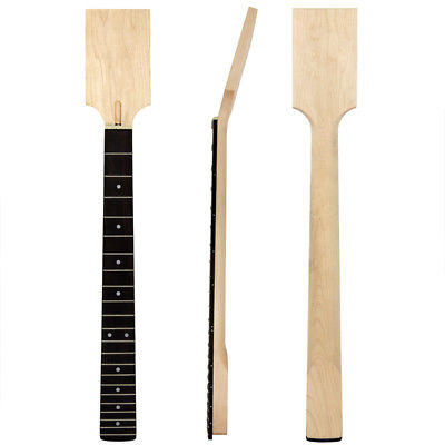 Kmise Electric Guitar Neck DIY Part Unfinished Maple 22