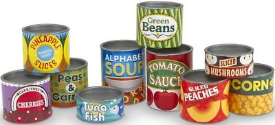 Melissa & Doug CANNED FOOD SET Pretend Play Toy/Gift